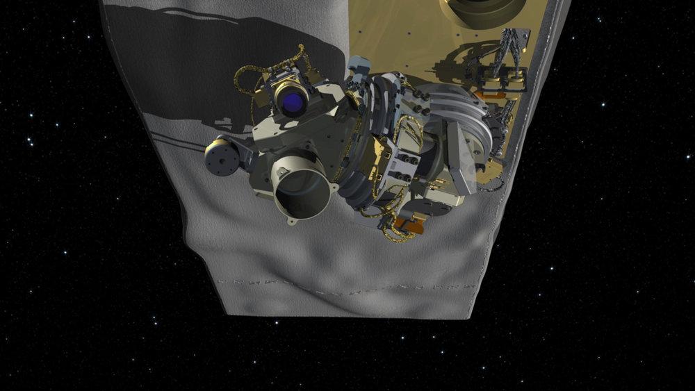 An illustration of NASA's OCO-3 instrument. Credit: NASA