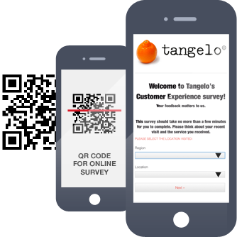 Customers can provide feedback easily using their smartphone, tablet or computer, via QR code,txt or URL.