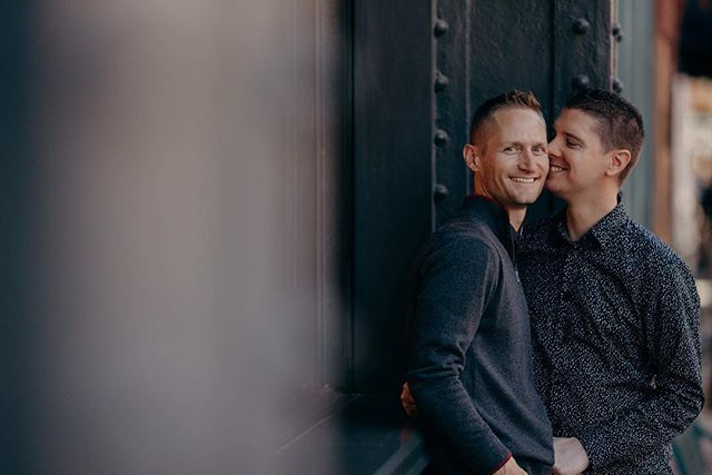 Ryan and Colton have been together for twenty years and have never had professional photos taken even when they got married! It was such an honor to get to spend the day with them hunting down the urban fall colors and watching them do the CUTEST ever giggle after every time they kissed. You two make me smile :) . . . .  #couplesportraits #gayengagement #denverphotographer #gayelopement#chooselove#fallengagement#samesexwedding #jojuliaphotography#rockymountainbride#weddinginspiration#modernwedding#summerwedding#weddinginspo#bridestyle#fineartwedding#flashesofdelight#pursuepretty#weddingphotography#mrandmr#loveislove#coloradowedding#coloradoweddingphotographer#radlovestories#belovedstories#authenticlovemag