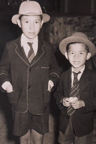 Alan and William at Cairns show, 1950s.jpg