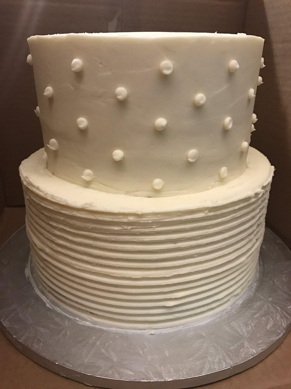mix tier wedding cake