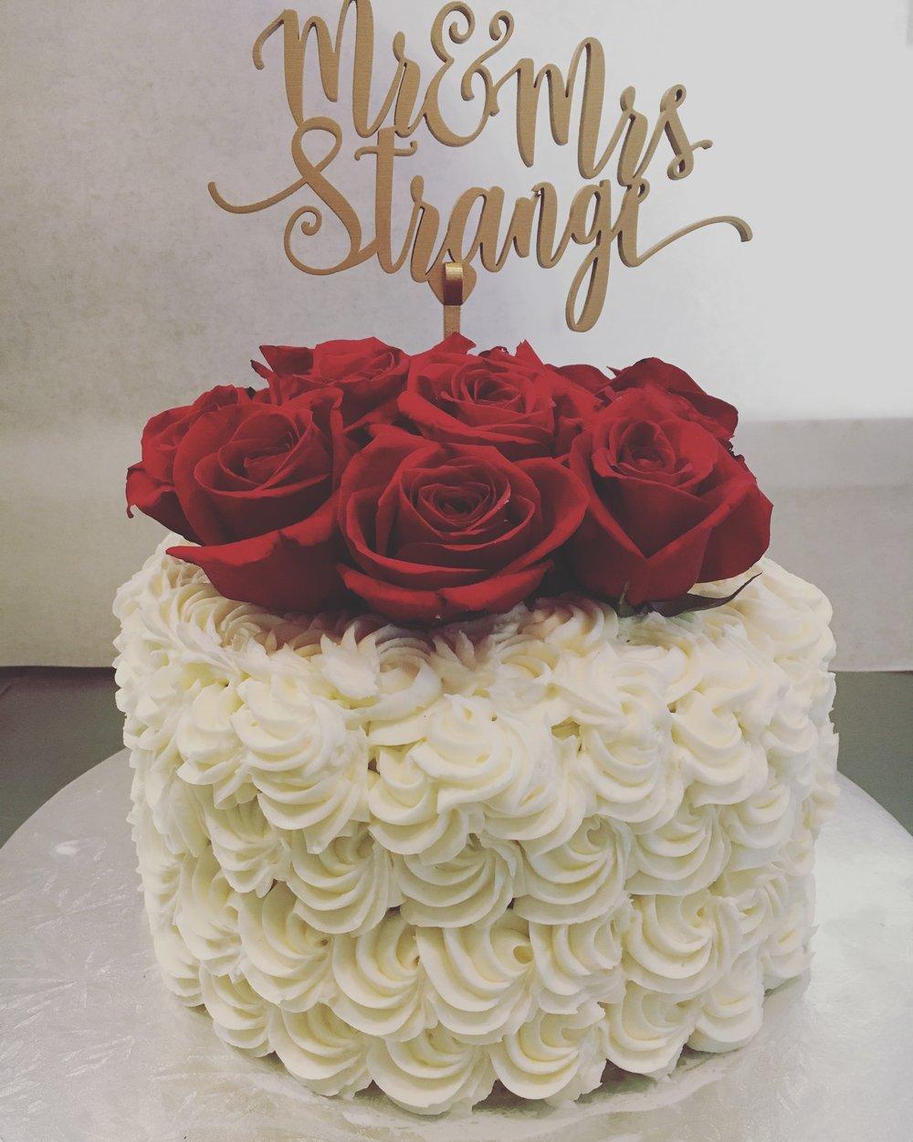 full tiered rosette cake