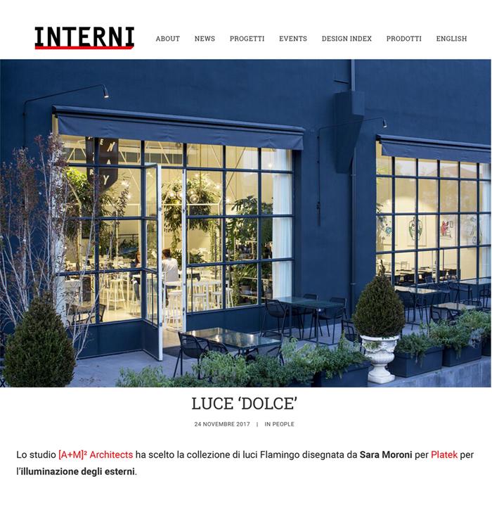 "Interni magazine, ""Luce Dolce"""