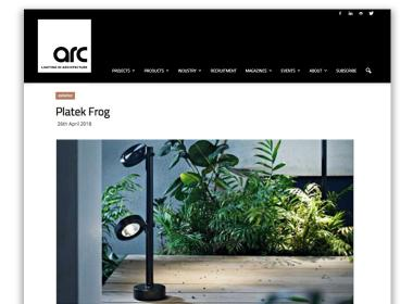 Arc | light in architecture _ Platek Frog by Sara Moroni