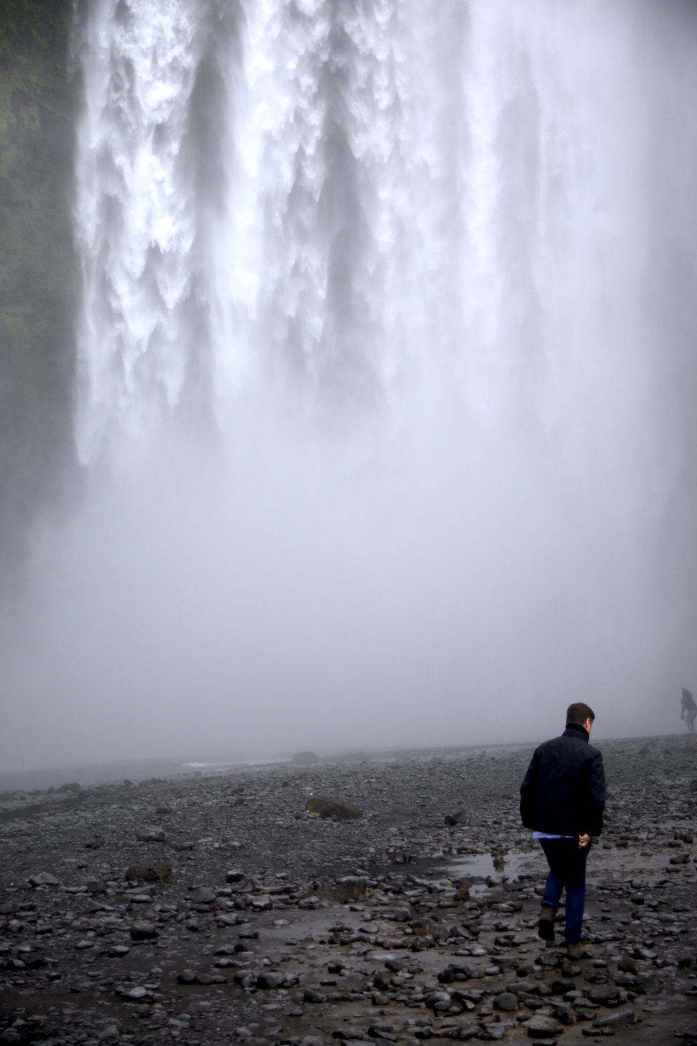 At Skógafoss waterfall on the south coast of Iceland.
