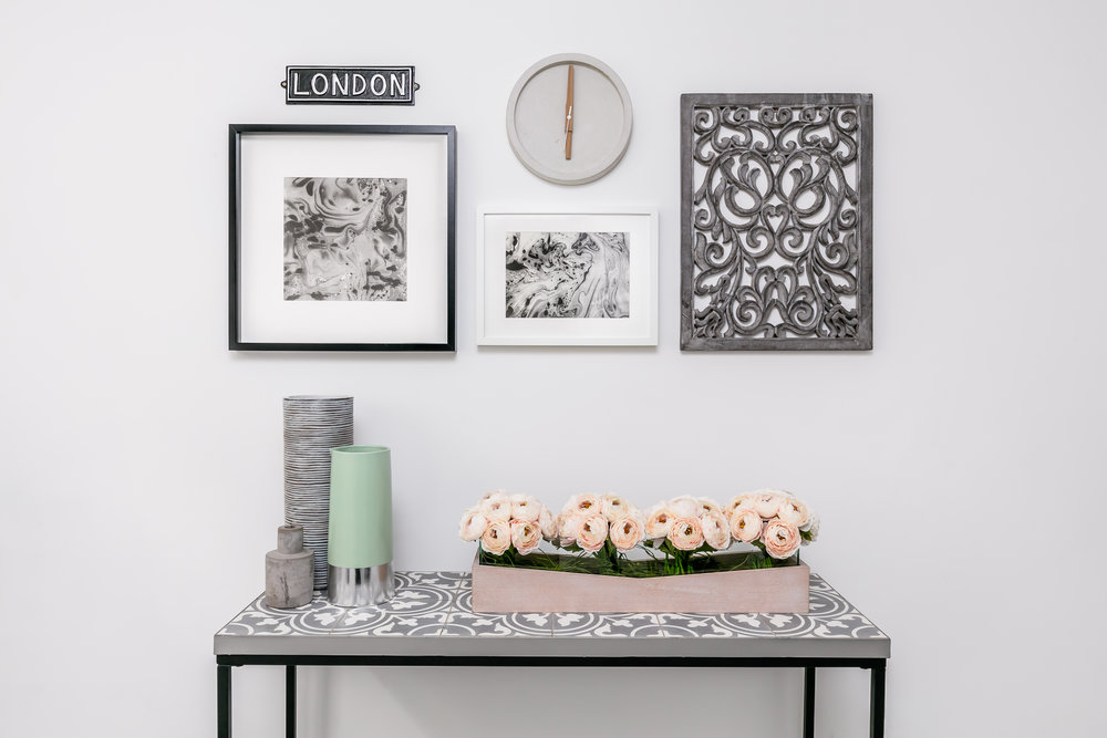 The Console Table Look.