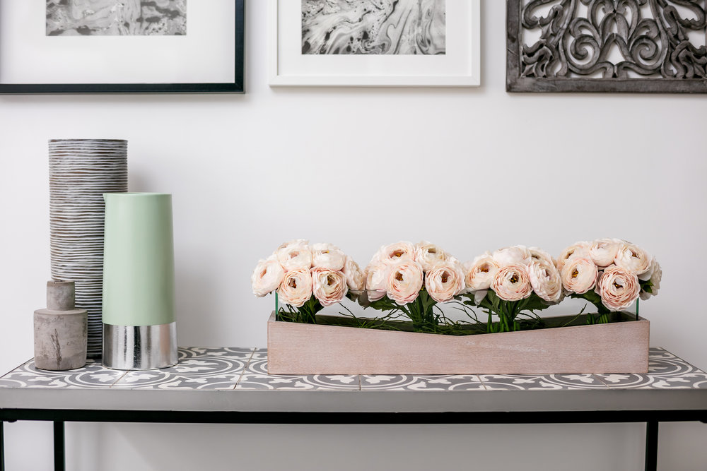 TIP  - Investing in flowers fresh or artificial are simple way to life the mood of room.