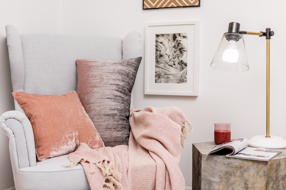 TIP: B e adventurous with textures and colour shades when styling your space with soft furnishings.