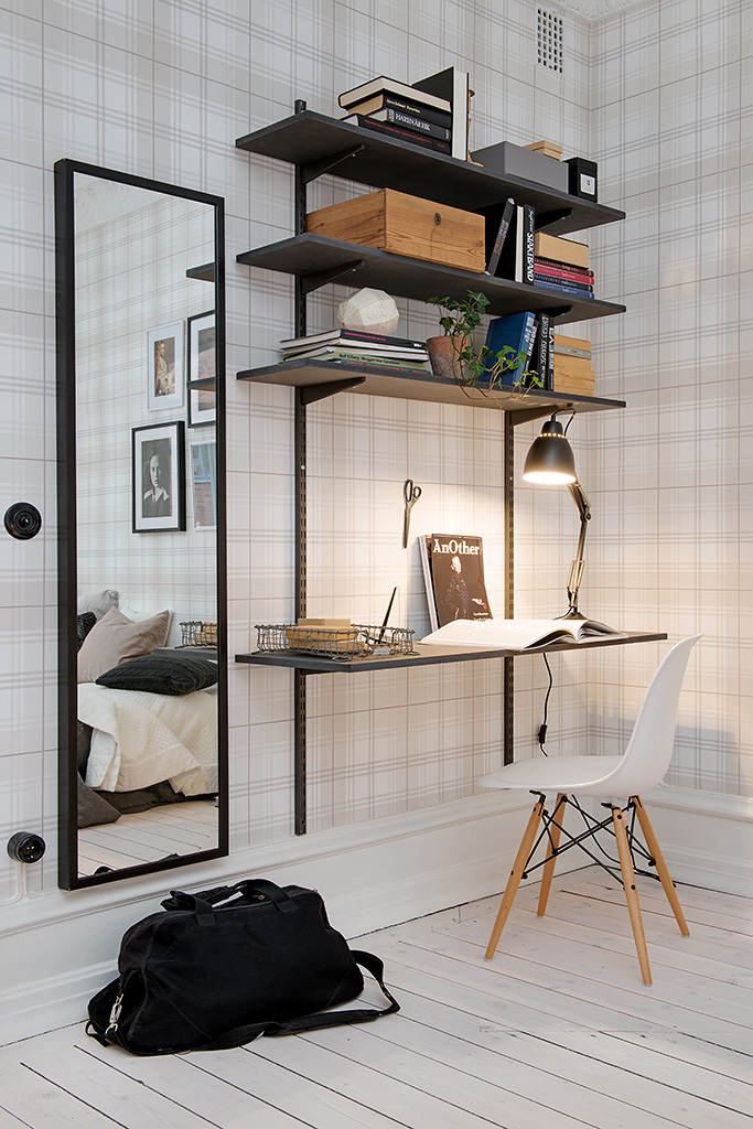 TIP:  Shelves can also be replaced as walls, large ones on wheels are practical for storage and will filter light through your space. (Photo: Cult Furniture)