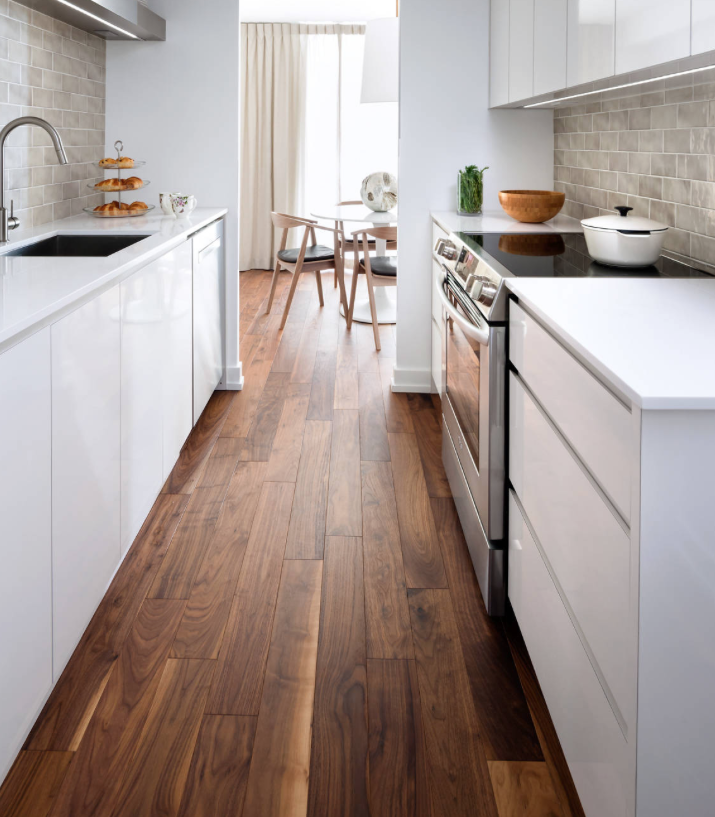 Mid Range - Trade Choice Engineered American Black Walnut  (Image: poshflooring.co.uk)