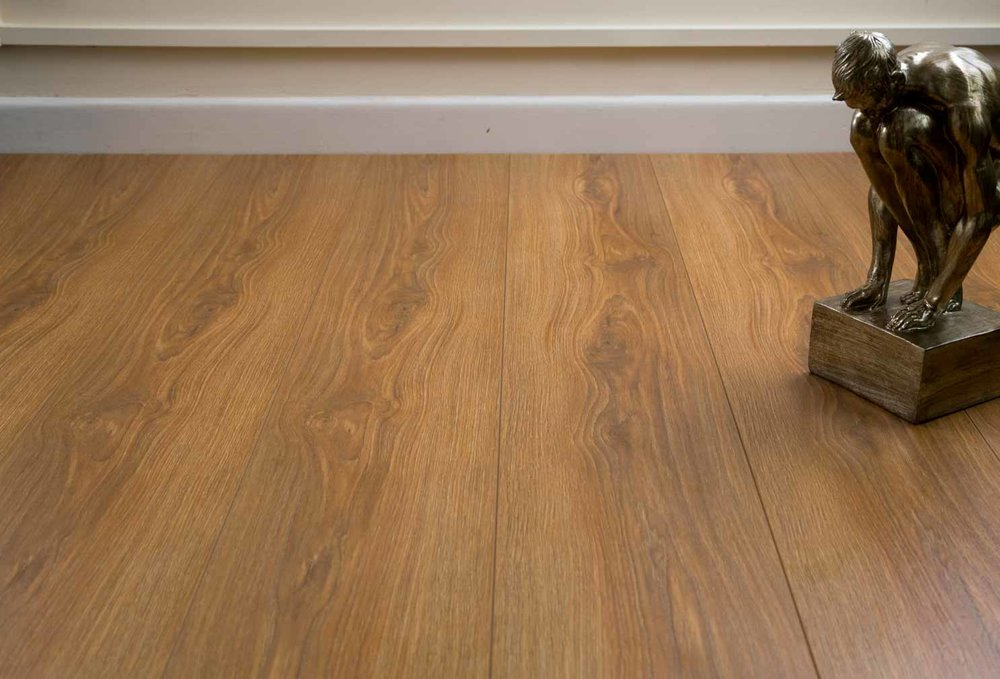 High End - Trade Choice French Oak Laminate  (Image: poshflooring.co.uk)