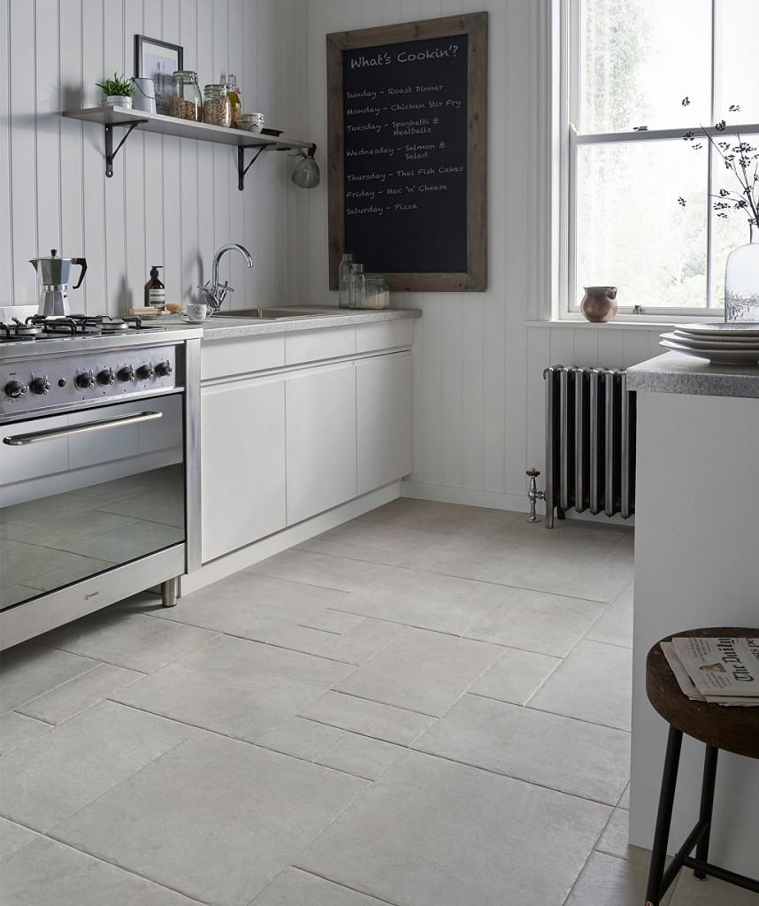 Low End - Mottistone Grey Modular  (Image: Topps Tiles)