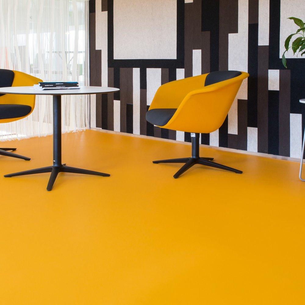 Contemporary Orange Vinyl  (Image: Carpet Right)