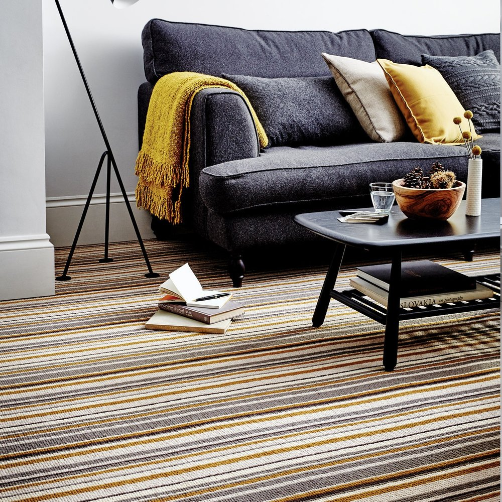 Mid Range - Resident Striped Carpet  (Image: Carpet Right)