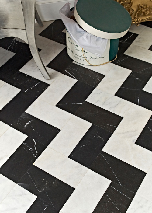 High End - Honed White Marble  (Image: Topps Tiles)