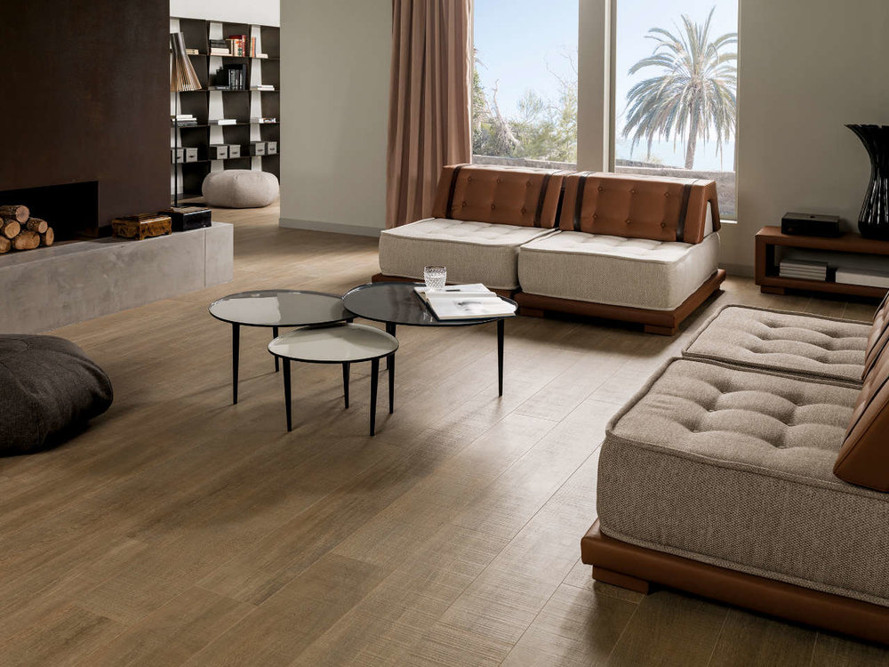 High End - Amazonia Natural PAR-KER Tiles  (Image: Porcelanosa.com)