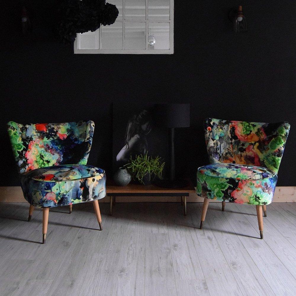 Kaleido Splatt Allover Cocktail Chairs