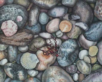 Karen Richardson with 'The Shell Game'