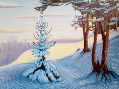 """John Kinsella's Snow Hill 30""""x 40"""""""