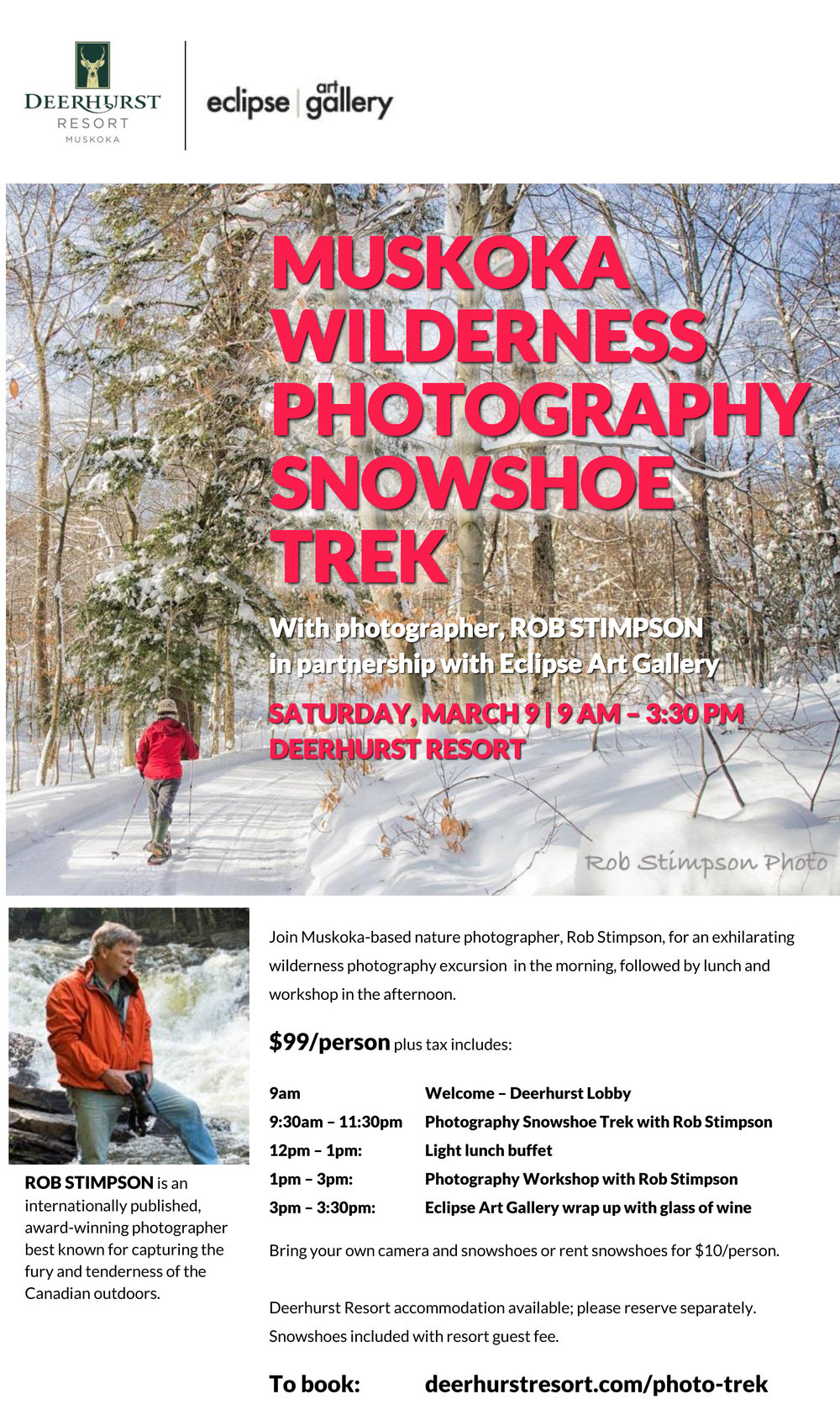 Winter Photography Snowshoe Trek_rob_stimpson_eclipse_ART_GALLERY_deerhurst_resort