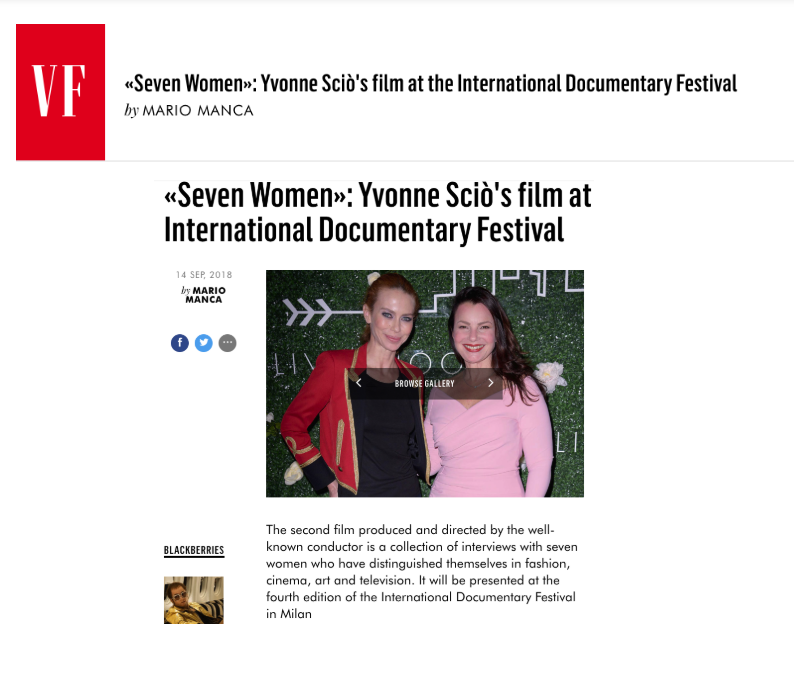 Seven Women received significant press coverage