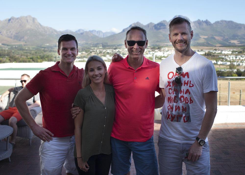 Fr Vänster: Anders Wall (VD), Sofie (PG), Lars Johansson (Ägare) och Mats Hedlund (Ägare)