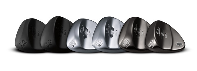 Nya Titleist Vokey SM7 i utförandena: Jet Black, Tour Chrome och Brushed Steel