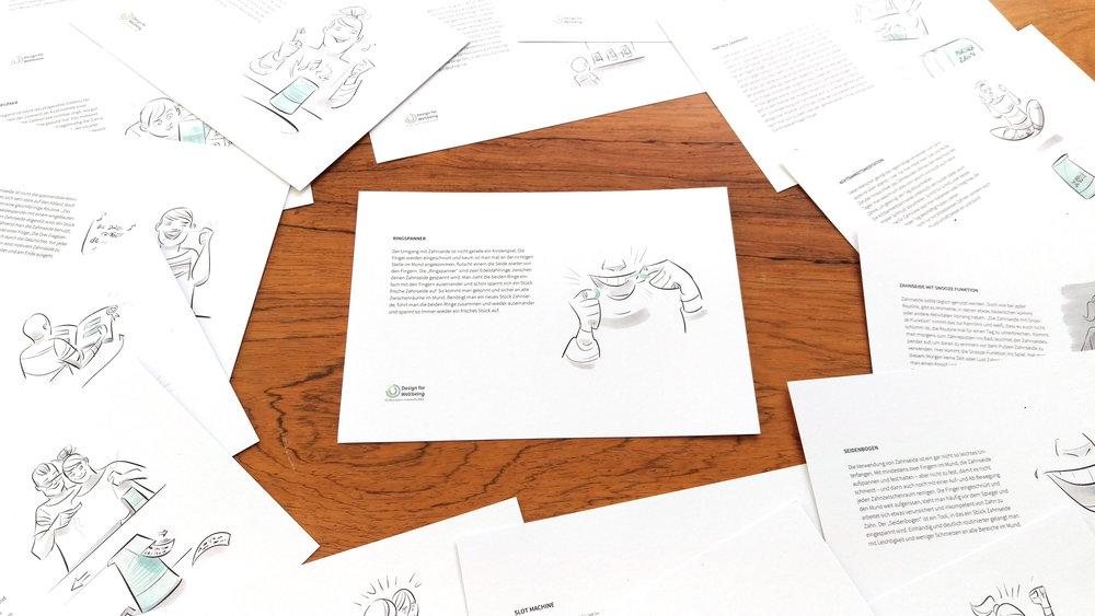 Konzeptkarten zur Überprüfung der ersten Lösungsideen