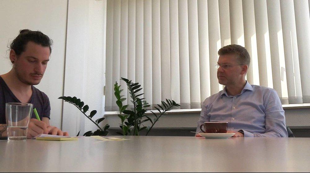 Interviewsituation aus der zweiten Fallstudie