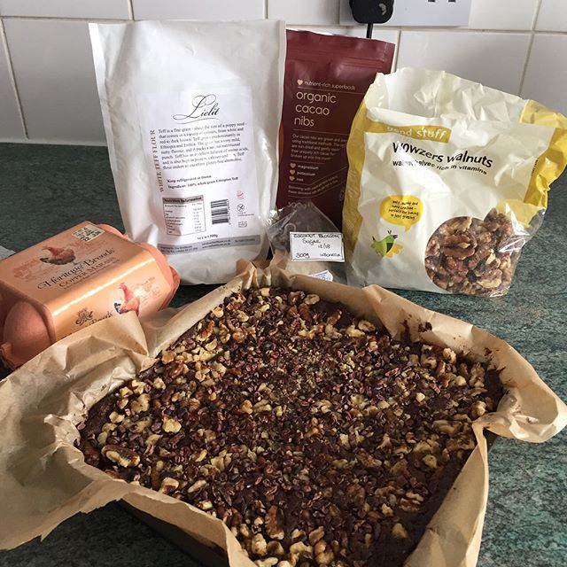 Brownies made by Cheryl with Lielit Teff flour ! Yummy 😋 #allergyfree #chocolatecake #glutenfreelife #glutenfreefood #teff #healthylifestyle