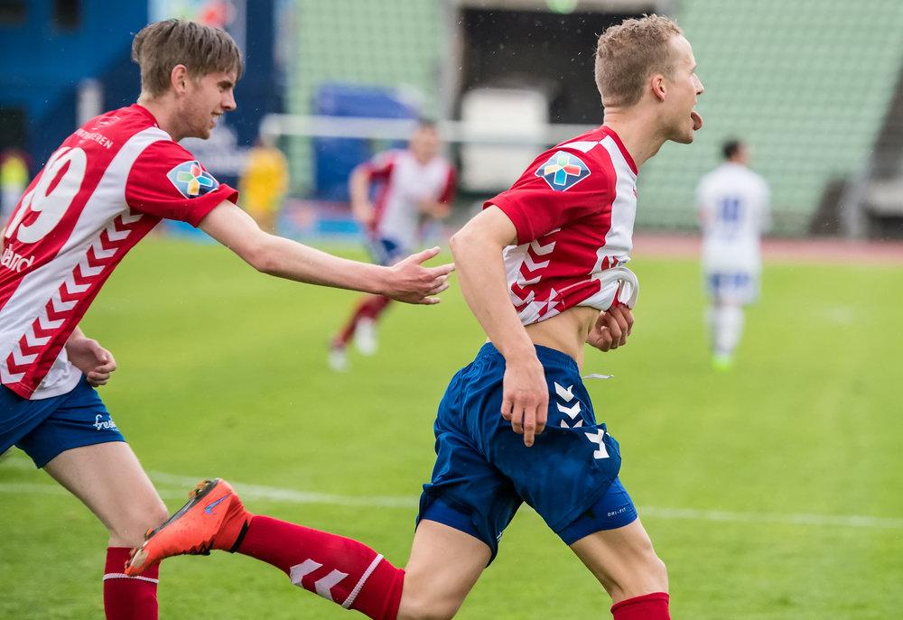 Bjarte Hovland og Rune Isaksen scoret to mål hver (foto: Lars Opstad)