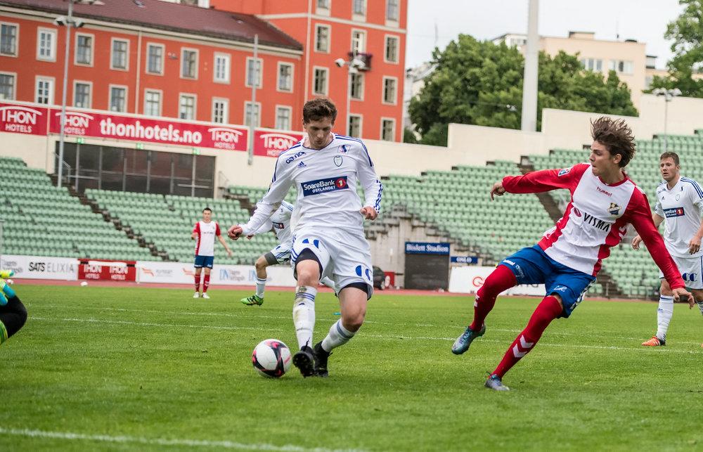 Kasper Rath Kaaber ble én av to debutanter for Lyn (foto: Lars Opstad)