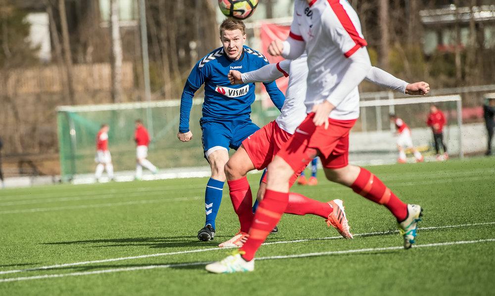 Emil Borkø var tilbake på banen og leverte en solid kamp mot Lørenskog sist helg. Foto: Lars Opstad, arkivfoto.