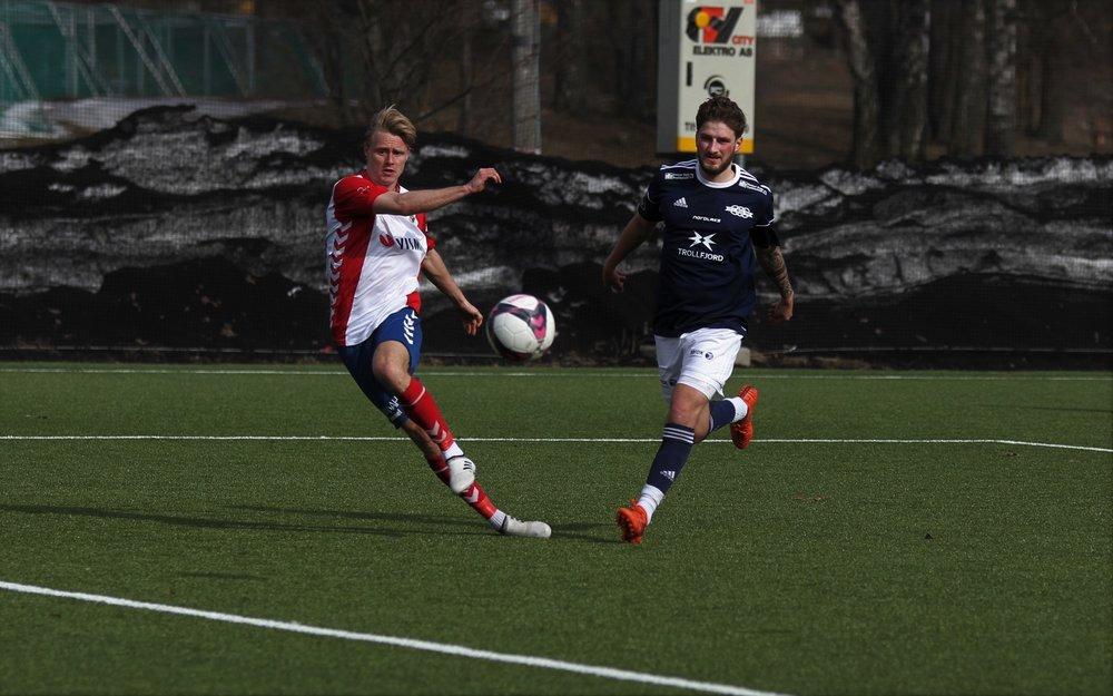 Eirik Haugstad redebuterte med to scoringer (foto: Linnea Halse)
