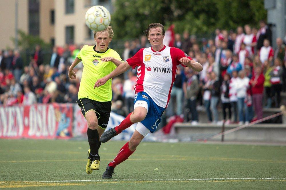 Birger Rasmussen fra kampen mot FK Tønsberg i 2013. Foto: BillyBonkers