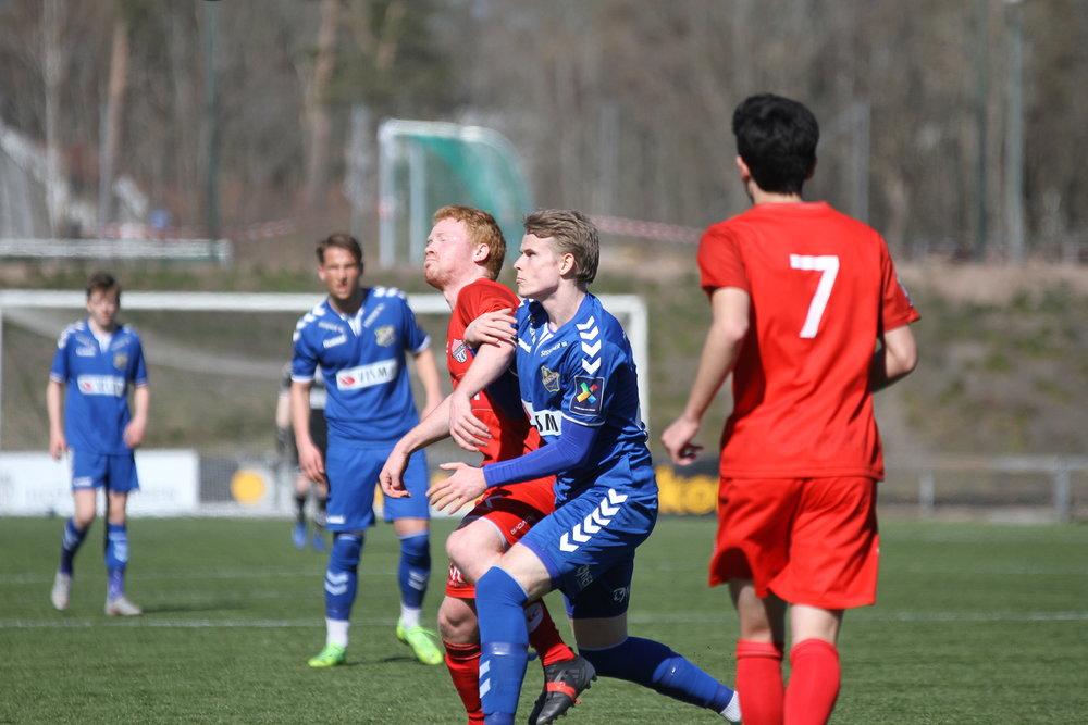 Mathias Pedersen Aasand herjet til tider med Tønsberg-forsvaret. Foto: Frank Halse