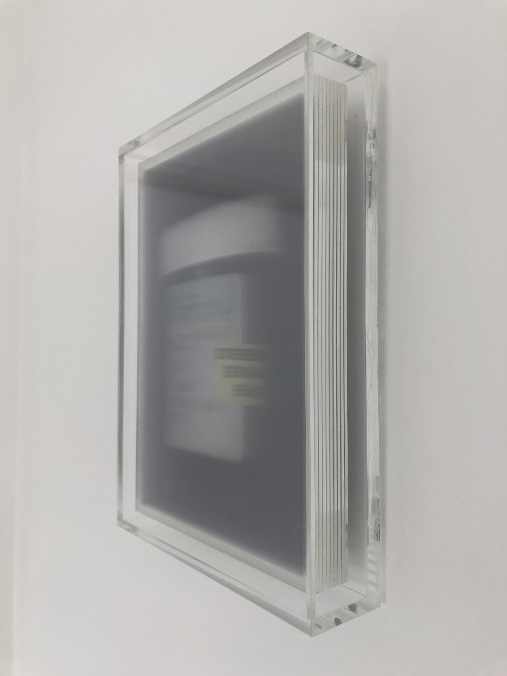 Untitled 02 in perspex frame