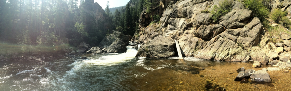 The waterfalls on the Big South fork of the Poudre River Photo by Sam Larson
