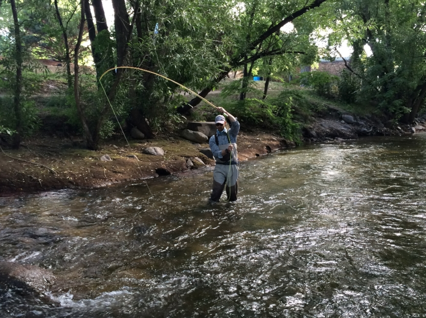 Fishing along the Boulder Creek Path Photo by Sam Larson