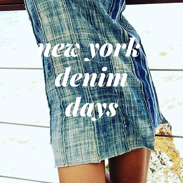 Count down to @denimdaysfestival September 22nd & 23rd. The maker is crafting new one of a kind originals. #oneofakind #vintage #handmade #denimdaysfestival #newyorkcity #💙