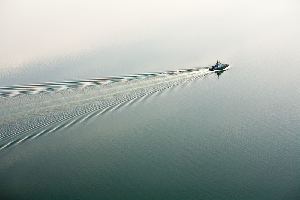 Photograph of a fishing boat on the water