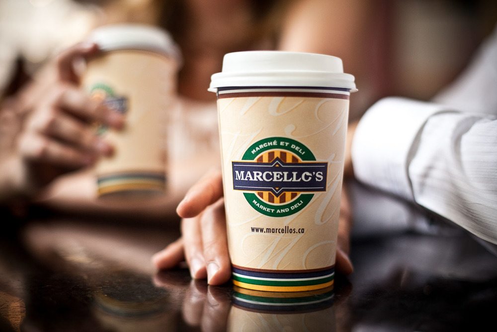 Photograph of a Marcello's coffee cup