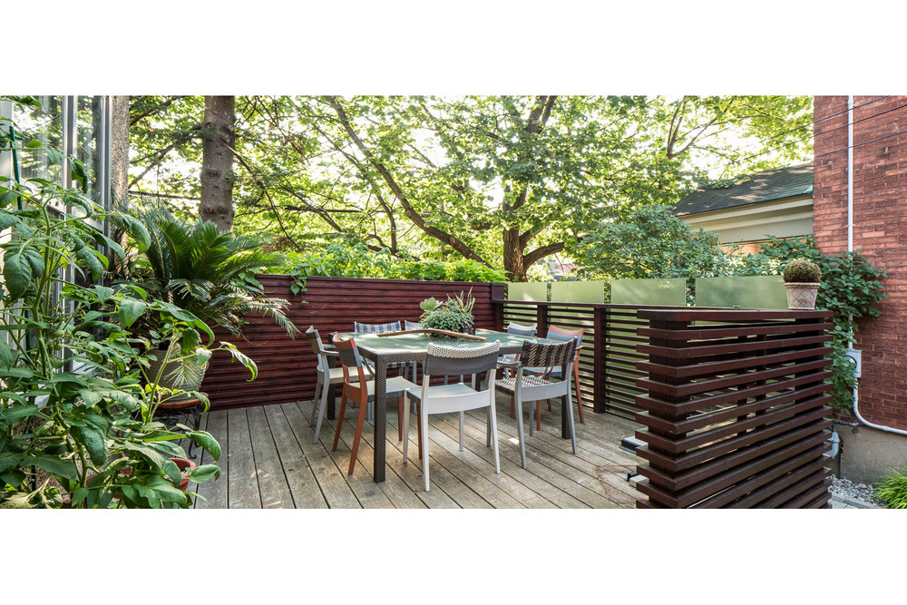 Photograph of an outdoor deck