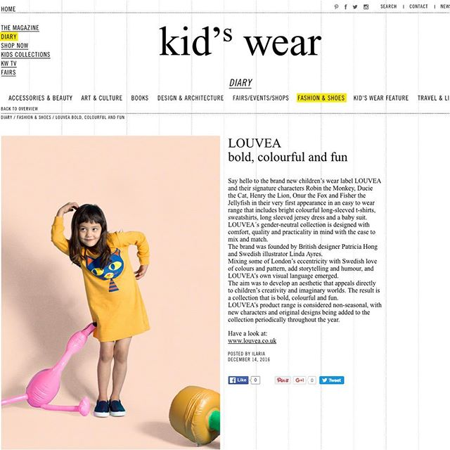 We're ecstatic that LOUVEA have been featured online in Kid'swear! 🤗🤗🤗 Thank you so much for the support Petra! @scimparello 🙏🙏🙏 #kidswearmagazine #feelinghappy #kidswear #ministyle #kidsfashion #kidsbrand #louvea_kidswear