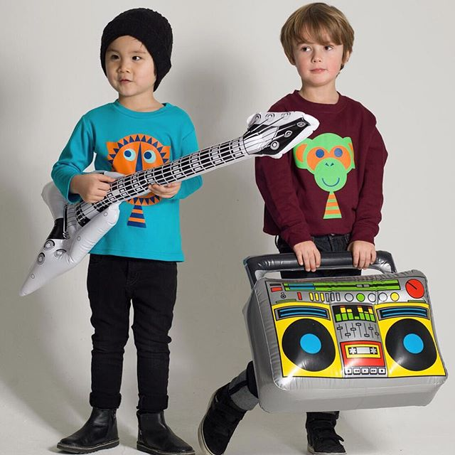 New boys in the hood! Rocking it in LOUVEA.  #kidsfashion #kids #illustration #kidsstyle #kidsrock #popkids #childrenbrand #childrenclothes #kidstee #boys #madeinuk #londonbrand #scandinaviandesign