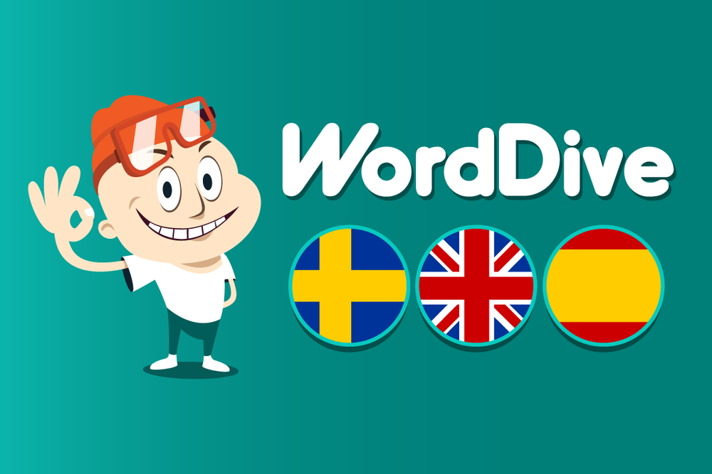 WordDive language learning app