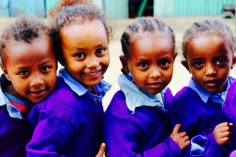 Kindergarten students at our school