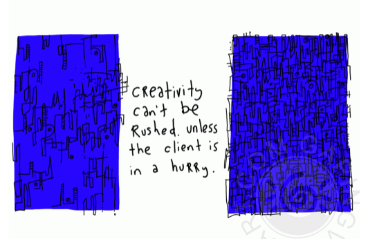 gapingvoid creativity rushed