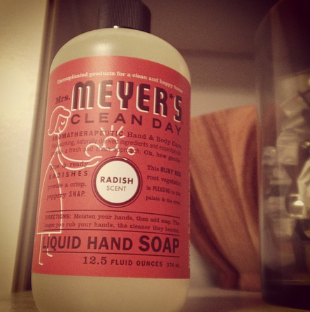 mrs. meyers soap radish