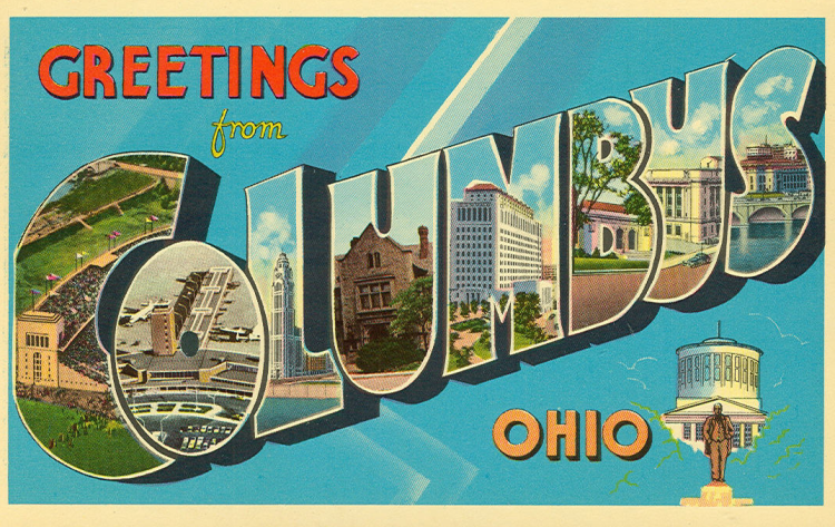 columbus post card